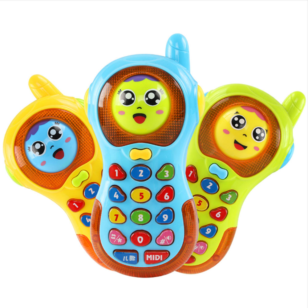 Electronic Mobile Phone Toys Colorful Baby Music Cellular Phone Toy Musical Cellphone Enlightment Toy Random Color