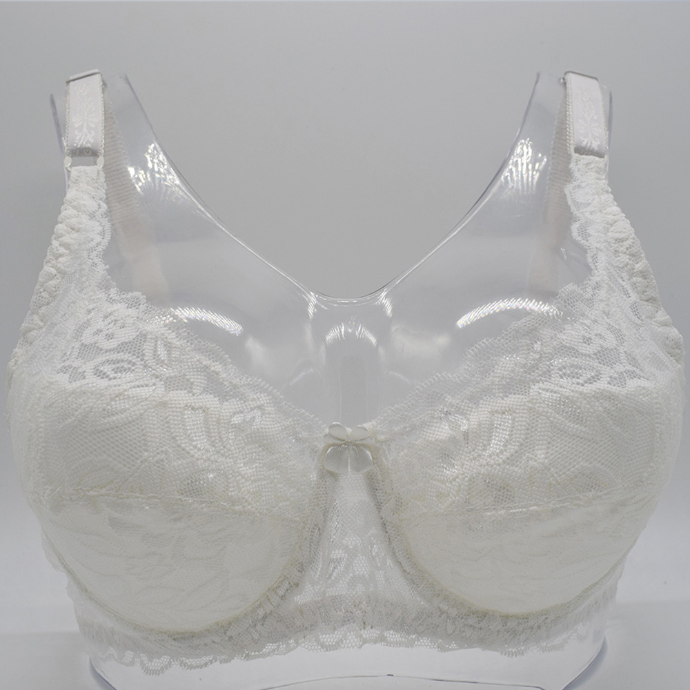 Sexy Lace Bra Plus size A B C D Cup Underwire Gather Adjustment Plunge Lingerie  Bras For Women Embroidery Underwear BH Top 34