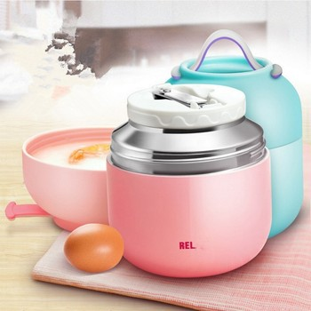 Food Thermos For Kids   500ML 18/8 Hot Food Warmer Stainless Steel Vacuum Insulated Food Thermos With Bag Green Color Food Container For Kids Gift