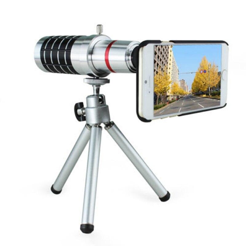 imágenes para Orbmart 16X Zoom Óptico de Cámara Del Telescopio Con Mini Trípode Para iphone 5 5s 6 6s 6 6 s más lentes de teléfono móvil
