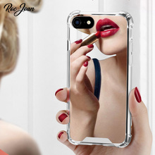Roc Joan Mirror Case for iPhone 7 8 6 6s Plus X XR XS Max Anti Shock Hard Acrylic TPU Cover Back Rose Gold Shockproof Coque roc max resurfacing