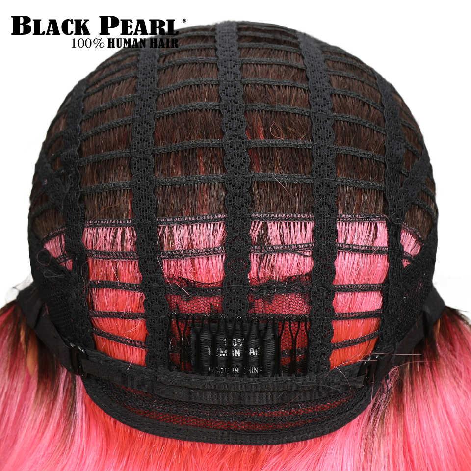 L бразильские волосы для причёска Боб с прямыми волосами Омбре Кружева передние парики для женщин 130% плотность розовый кирпич красный цвет средняя часть парик шнурка