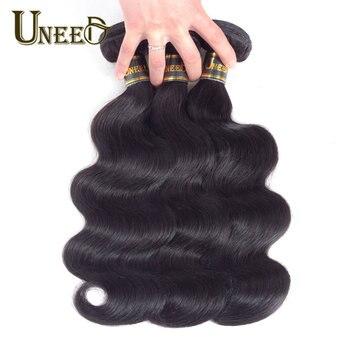 Uneed Cheveux Brésiliens Vague de Corps Extensions de Cheveux 100% Remy de Cheveux Humains Weave Bundles Naturel Couleur Livraison Gratuite Acheter 3 ou 4 faisceaux
