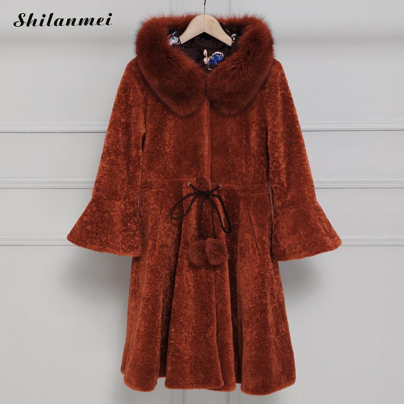 2017 Winter Warm Long Luxury Fox Fur Jacket Women Winter Faux Fox Fur Jackets Woman Warm Artifical Fox Fur Coats Female Ladies woman 2016fw woman fashion patch bomber jacket with faux fur collar warm qulited lining side pockets