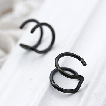 1PCS Women's Silver Clip On Wrap Earring Tragus Stainless Steel Earrings Clip for Men nose ring Fake Piercing Body Jewelry 1