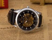 Мужская мода роскошные часы Полый прозрачный механические часы бизнес-подарки часы Gucamel