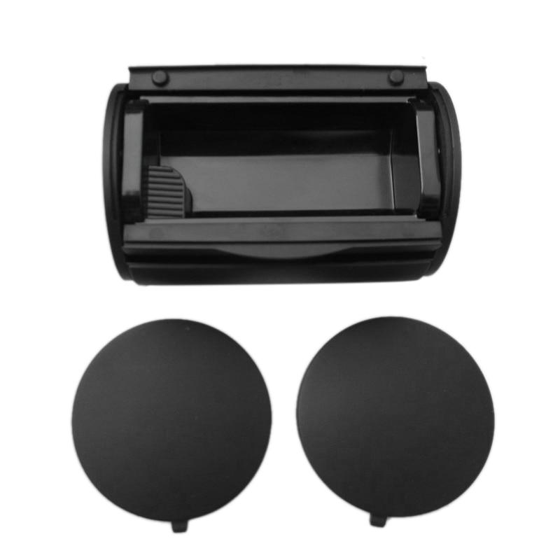 Black Rear Ashtray Bin Ash Tray + Side Caps For V W Bora J Etta Golf 4 Mk4 1J0 857 962H +1J0 863 359E