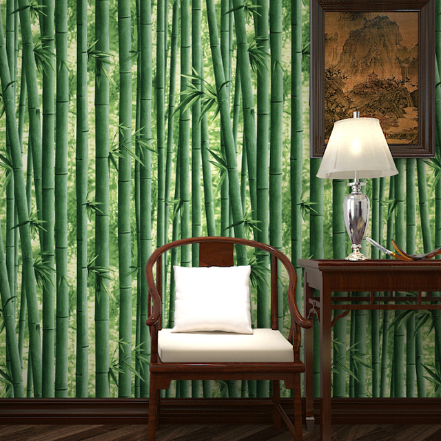 Free Shipping The Modern Style Living Room Sofa Background Of Natural Green Bamboo Wallpaper 53m2