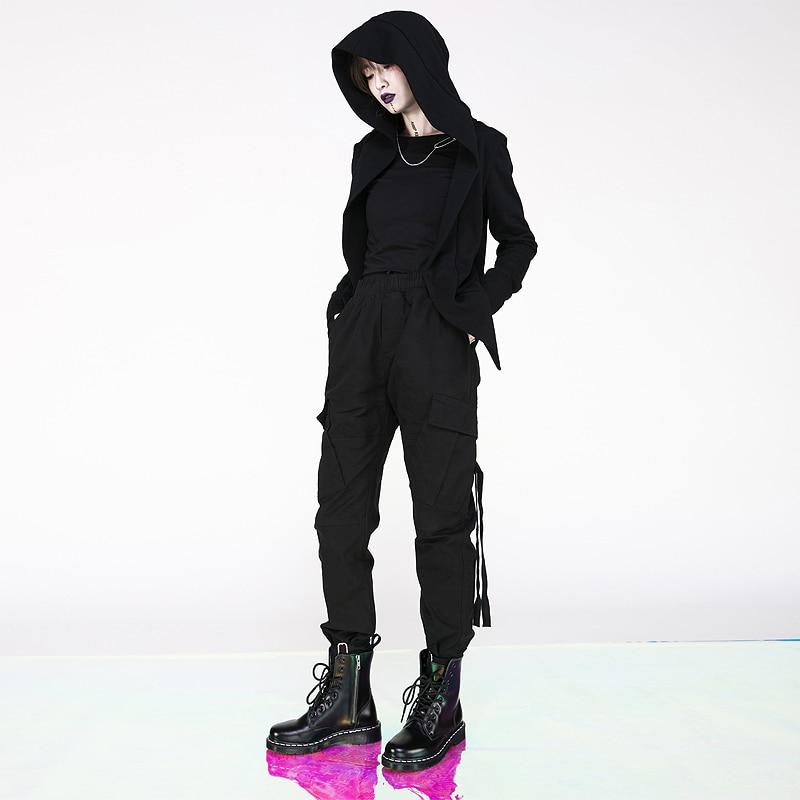 De Punk Black Botón Con Hombres Bolsillo Pantalones La Nueva Mujer Los Personalizado Hip Gran Y Moda Código Tridimensional hop xvUwTtq4