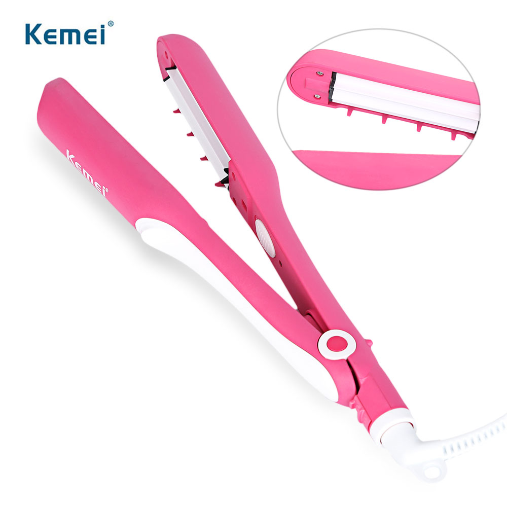 Kemei 3 In 1 Multifunctional Hair Styling Tools Electronic Hair Straightening Irons + Corn Plate + Hair Curler Magic Curls kemei 3 in 1 multifunctional clip corn hair sticks comb roller curler