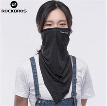 цена на ROCKBROS Summer Outdoor Sports Scarf Cycling Bandana Bicycle  Headwear Ride Neck Face Mask Bike Triangle Headband Scarf