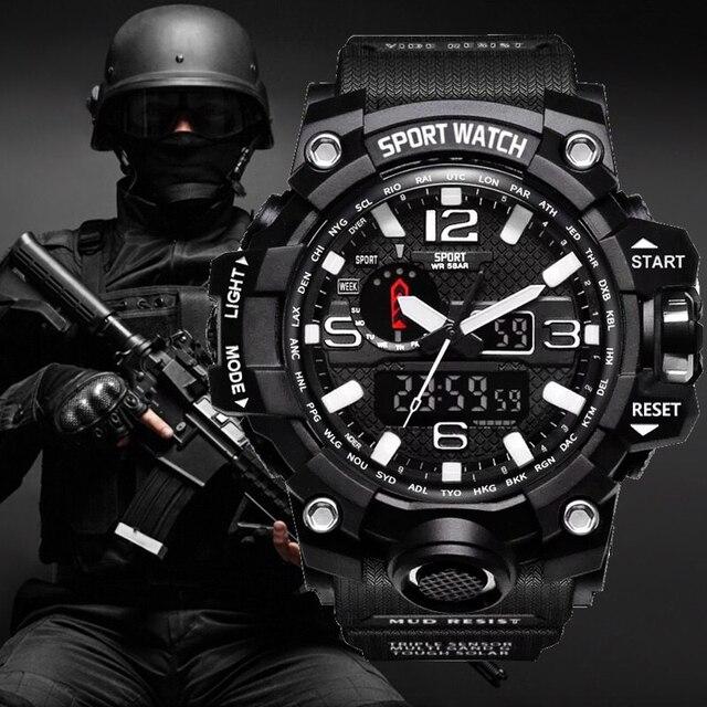 G Choque Relógios Homens estilo Militar Do Exército Mens Watch Reloj Presente Digital Led Sports relógio de Pulso Masculino Relógios Analógicos Automáticos Masculinos