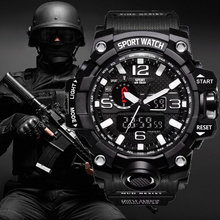 G Style Shock Watches Men Military Army Mens Watch Reloj Led Digital Sports Wristwatch Male Gift Analog Automatic Watches Male cheap Losida STAINLESS STEEL 24cm 3Bar DRESS Buckle ROUND 20mm 15mm Plastic Complete Calendar Shock Resistant Stop Watch LED Display