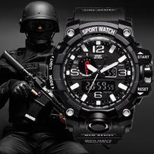 G Style Shock zegarki męskie wojskowe armii męskie zegarki Reloj Led sportowe cyfrowe zegarki męskie prezent analogowe zegarki automatyczne męskie tanie tanio Losida STAINLESS STEEL 24cm 3Bar DRESS Cyfrowy Klamra ROUND 20mm 15mm Z tworzywa sztucznego Kompletna kalendarz Odporny na wstrząsy