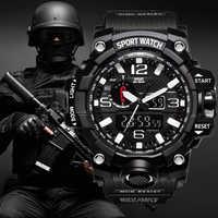G stil Schock Uhren Männer Militär Armee Herren Uhr Reloj Led Digital Sport Armbanduhr Männlichen Geschenk Analog Automatische Uhren Männlichen