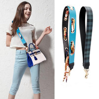106cm Personality new style metal round hole pu leather fashion ladies handbag shoulder strap bag parts belt Accessories