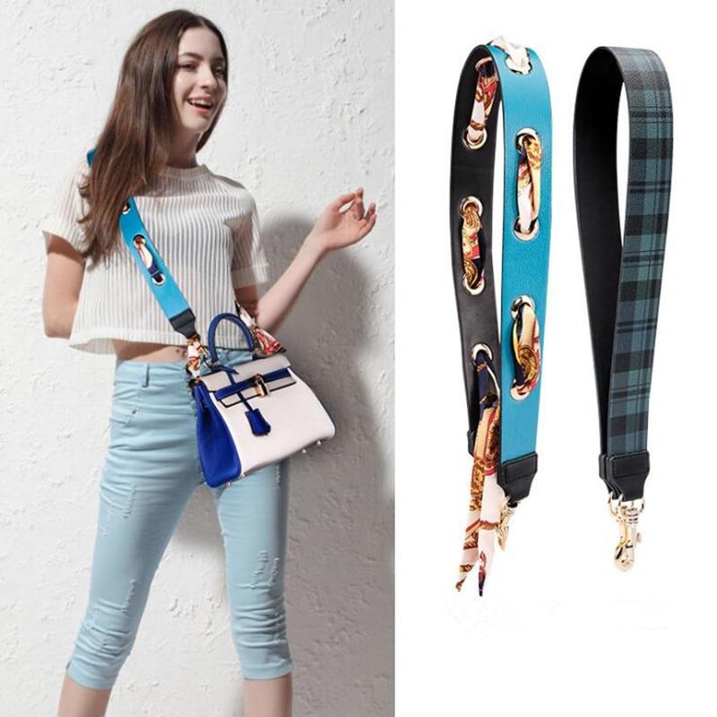 106cm Personality new style metal round hole pu leather fashion ladies handbag shoulder strap bag parts belt Accessories