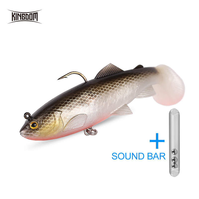 Kingdom Pike Fishing Lures 120mm 38g Wobblers Pig Shad Soft T Tail Lead Head Sinking Fishing Bait Crazy Trout Swimbait Lure in Fishing Lures from Sports Entertainment