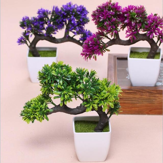 tree potted landscape artificial bonsai pot plants artificial plants