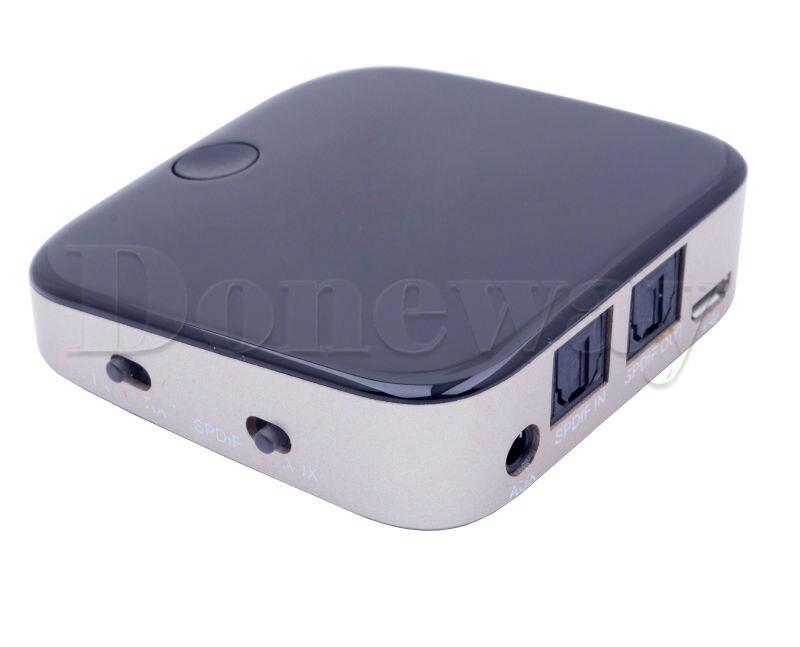 216a95f24ed 2 em 1 Adaptador de Áudio Estéreo Bluetooth Transmissor Sem Fio ...