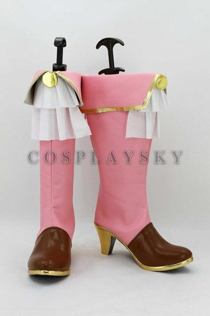 Love Live Minami Kotori Pink Hight Heel Cosplay Boots