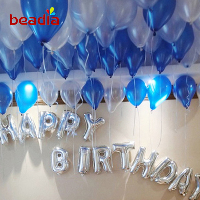 1 Set Birthday Party Balloon Banquet Latex Balloons Ribbon Rope