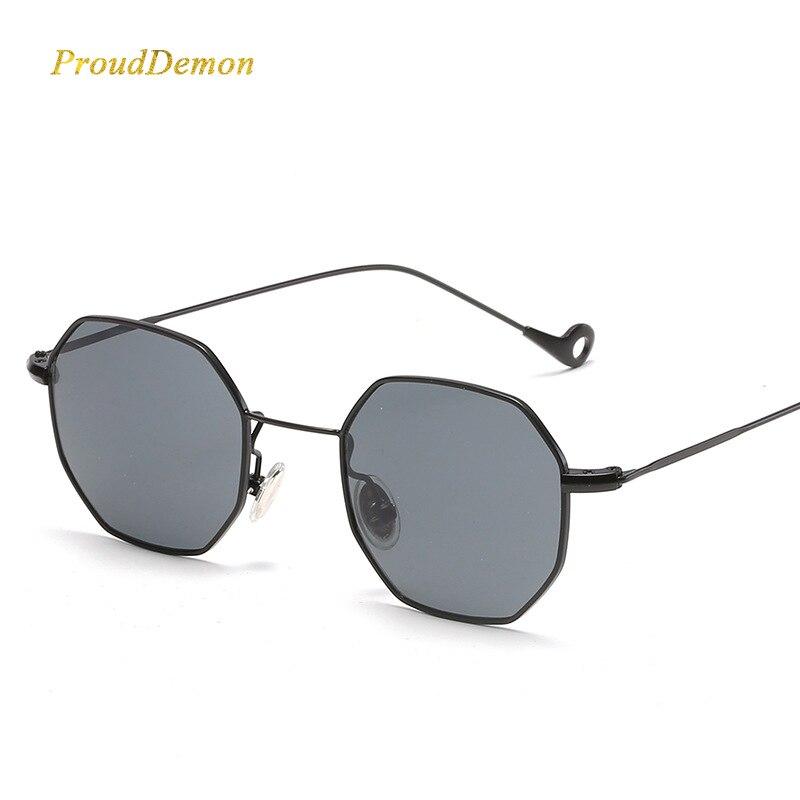 0ccbff25ea Steampunk polígono forma de gafas de sol de las mujeres de los hombres de  lujo Vintage, diseñador de marca, lente claro gafas de sol hexagonal de  Metal ...