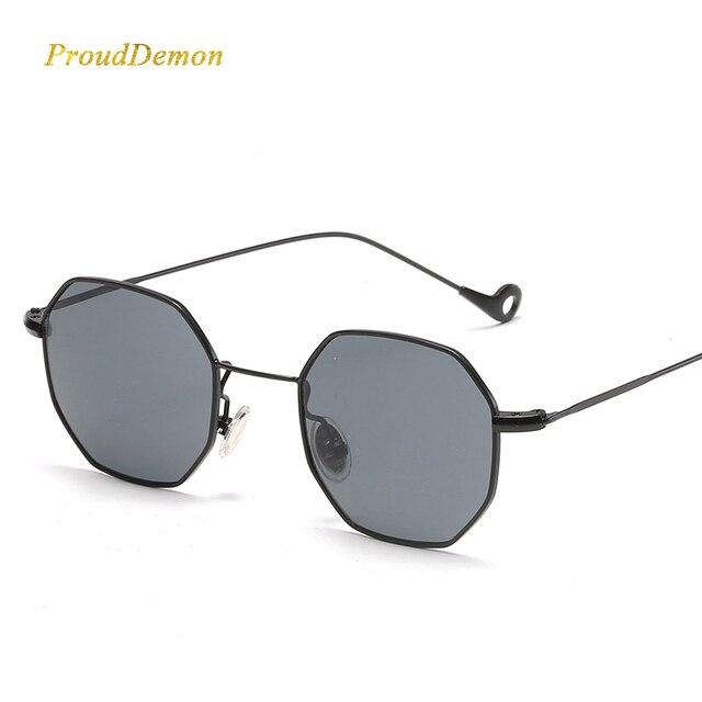5ccaefdcdc Steampunk polígono forma de gafas de sol de las mujeres de los hombres de  lujo Vintage
