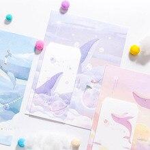 3 конверта+ 6 бумажных конвертов с буквами, набор бумажных конвертов с изображением Кита мечты, милый лесной бумажный конверт для письма, поздравительная открытка, стационарный подарок для детского фестиваля