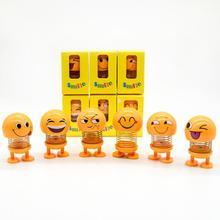 Dragonpad Shake Head  Toys Car Ornaments Dolls Cute Cartoon Funny Emoji Wobble Robot Lovely Dashboard Decoration Auto