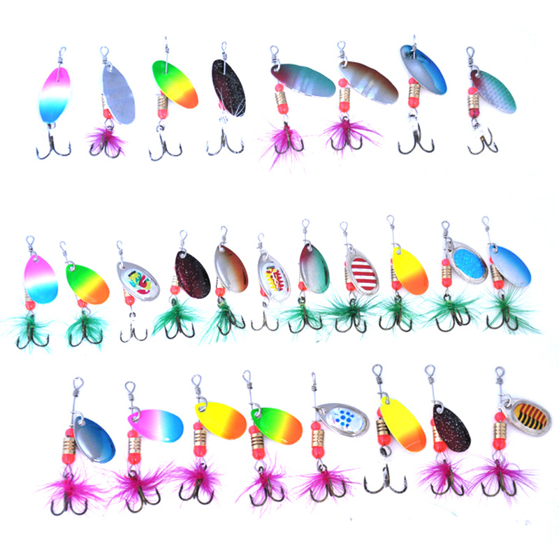 Image 4 - OLOEY 30PCS fishing lure artificial metal spoon silicone wobbler fishing spinner lures deep carp bait diving perch wobbler fish-in Fishing Lures from Sports & Entertainment