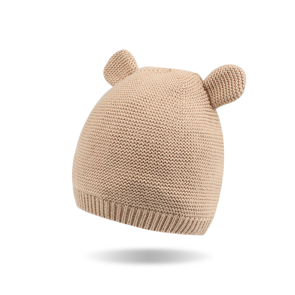 Crochet Cute Baby Hat Bear Ears Newborn Knit Beanie Cotton Soft Baby Boys  Hat Autumn Winter Newborn Girl Hat Baby Boys Clothing -in Hats   Caps from  Mother ... f451983f948
