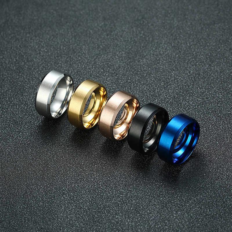 LETAPI 2019 Новая мода 8 мм классическое кольцо для мужчин 316L ювелирные изделия из нержавеющей стали обручальные кольца для женщин
