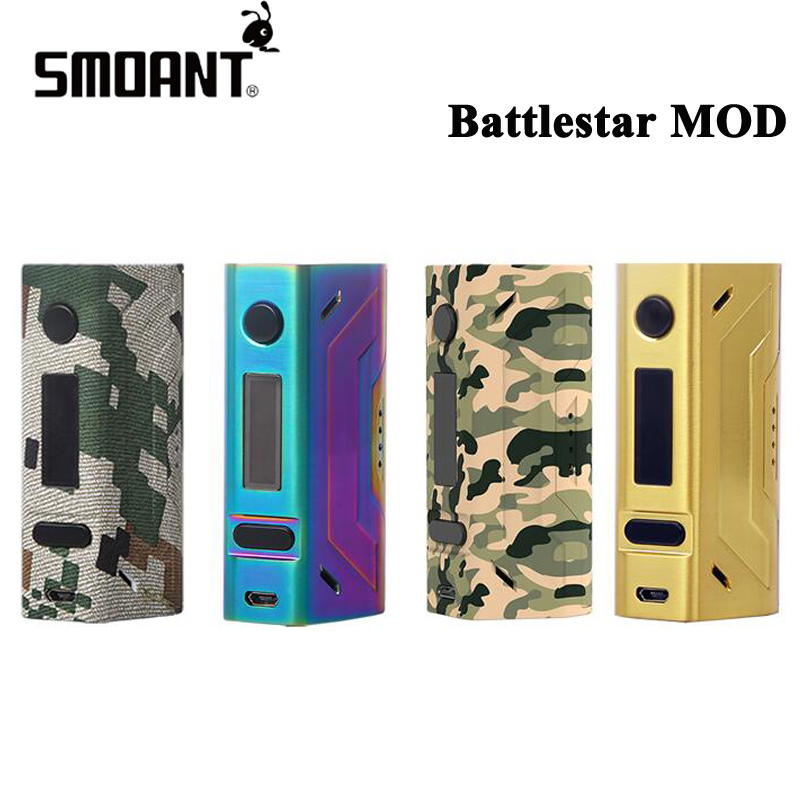 Original Smoant Battlestar 200W TC Mod Electronic Cigarette Box MOD Vape with Spring Loaded 510 Pins