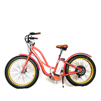 48v Electric Fat Bike with 500w Brushless Rear Hub Motor Beach Cruiser for Adult 26*4.0 Powerful Mountain Fat Electric Bike