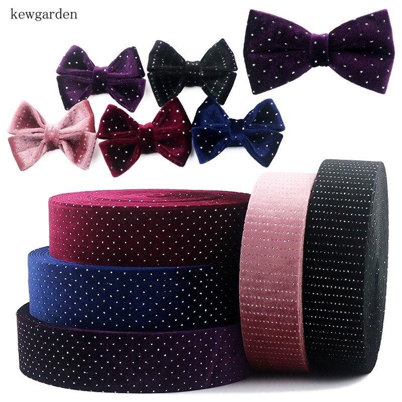 Pink Blue Black Purple 10mm Dotted Organza Ribbon