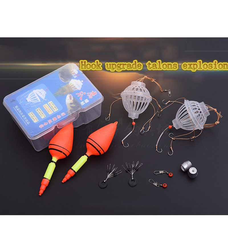 2x Sharp 6 In 1 Lantern Lure Bait Cage Barbed Explosion Fishing Hook Tackle Tool