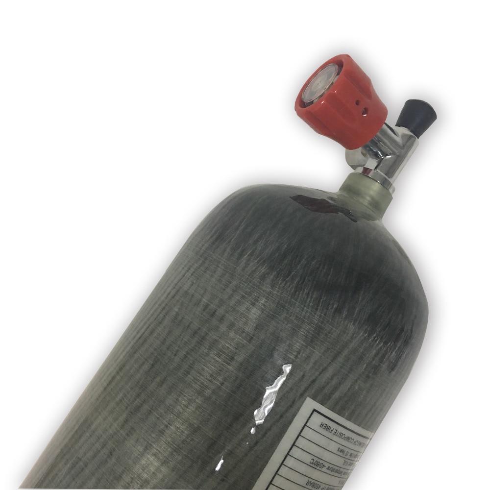 Купить с кэшбэком AC10911 9L CE Carbon Fiber Cylinder High Pressure Cylinder Airforce Condor Pcp Scuba Tank Scuba Pcp Rifle Aqualung Ding-Y