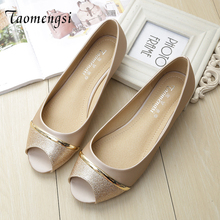 Taomengsi The 2018 Toed Mixed Colors Shoes Slip PU Sequin Dichotomanthes End Women Fish Mouth Asakuchi