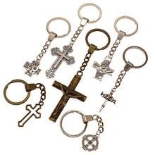 Mix Religious Cross Key Chain For Diy Handmade Gifts Keychain Pendant