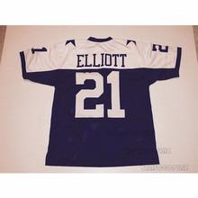 Mens Ezekiel Elliott Stitched Name Number Throwback Football Jerseys  UNSIGNED  NO LOGOS OR EMBLEMS ( 106953090