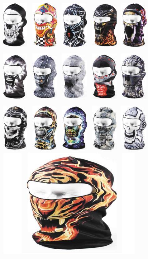 2015 Women Men 3d Animal Skull Bicycle Cycling Motorcycle Masks Ski Hood Hat Veil Balaclava Uv Protect Full Face Mask