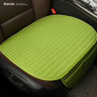 Karcle Linen Car Seat Covers Universal Breathable Seat Cushion Pad 4 Seasons Common Cool In Summer