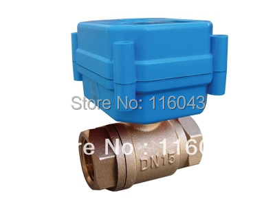 Electric operated valve DC12V BSP1 2 for heating system water control 2 3 5 wires