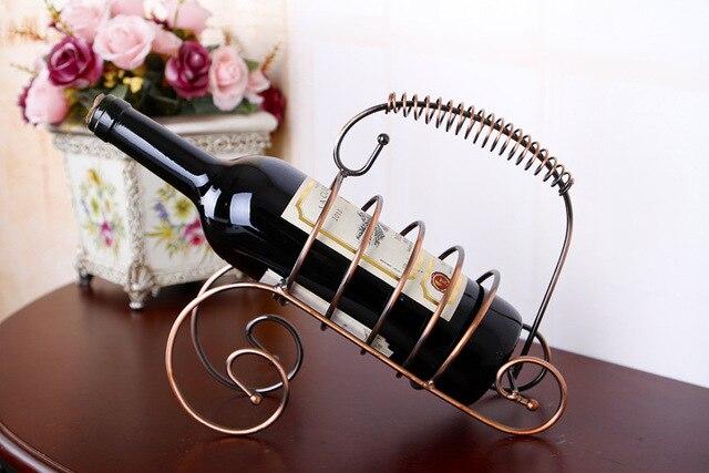 Nieuwe creatieve mode decoratieve continental iron rvs wijnkast