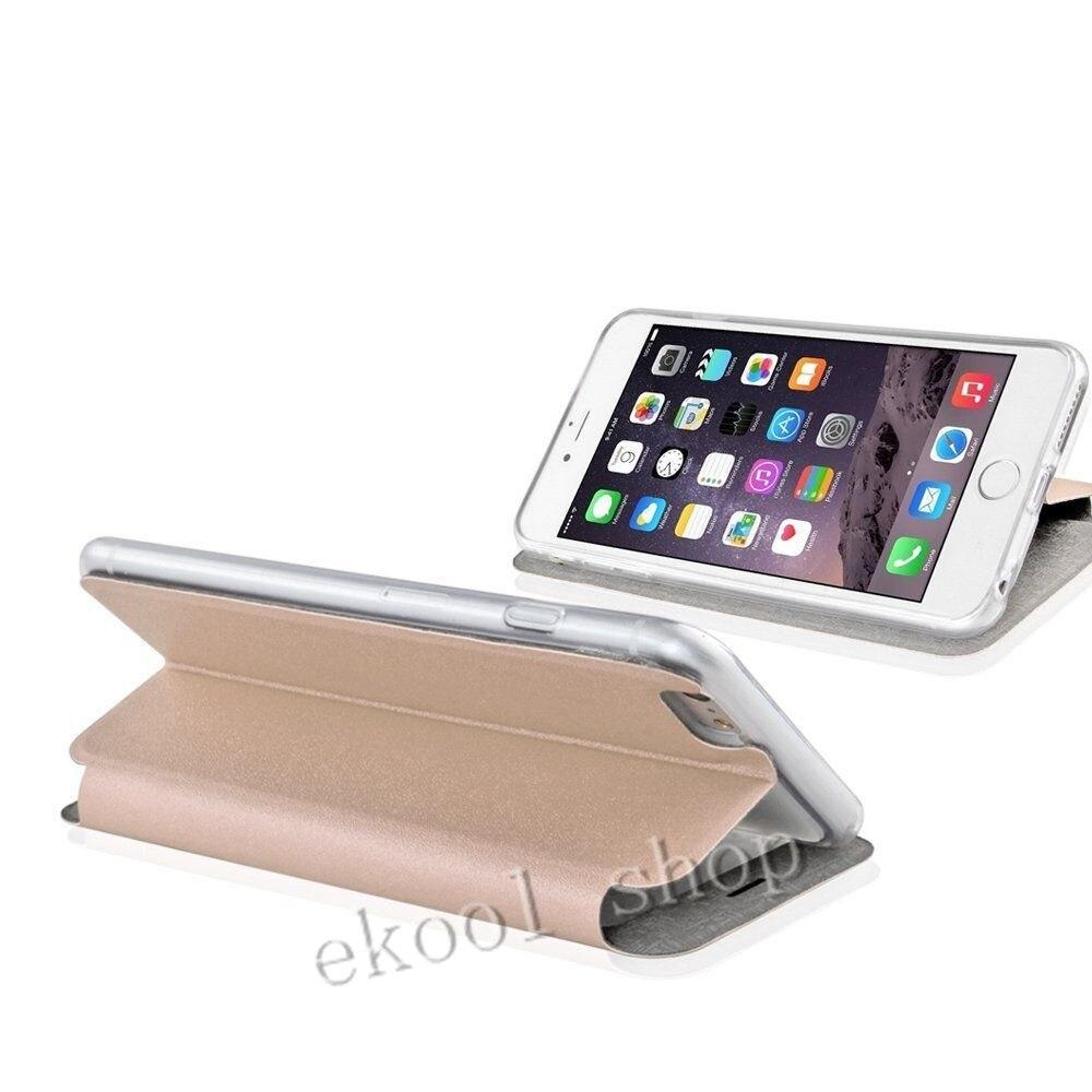 LRuiize For iphone X 10 Smart Front Window View Flip stativ PU - Reservdelar och tillbehör för mobiltelefoner - Foto 4