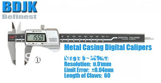 0~300mm Metal Casing Digital Caliper / Caliper / Measuring Tool / Instrument with 0.04mm Limit Error casing