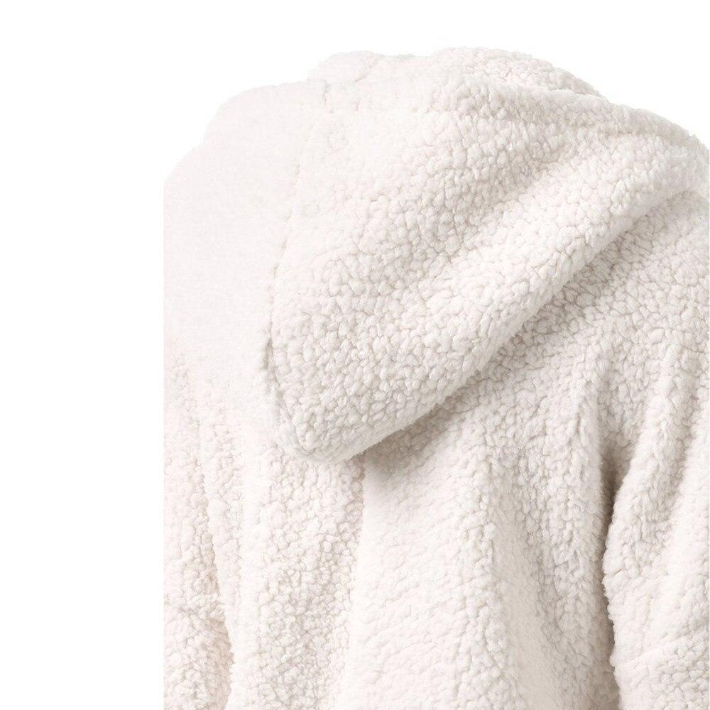 HTB1mvXDX2fsK1RjSszgq6yXzpXa7 Women Solid Color Coat Thicken Soft Fleece Winter Autumn Warm Jacket Hooded Zipper Overcoat Female Fashion Casual Outwear Coat