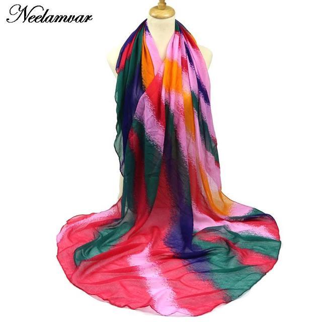 Fashion stripes colorful scarf