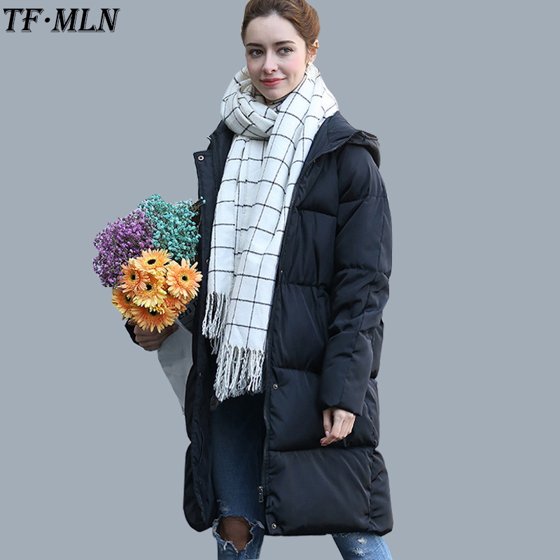 TFMLN Womens Winter Jackets and coats Fashion Women Warm Female Long Cotton Padded Warm Jacket Coat High Quality Hot Sale womens winter jackets and coats promotion special offer 60% zipper cotton solid 2016 female in cotton padded jacket w06005 coat